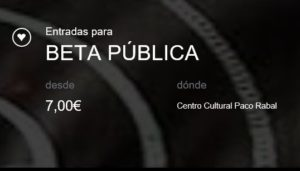 Entradas Beta Publica 2017